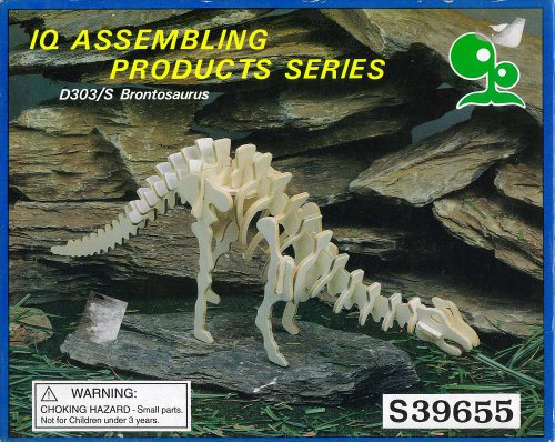 Brontosaurus Dinosaur Model Kit IQ Assembling Products Series D303/S UPC 792363396554 - 1
