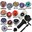 Beyblade Huge Collection Receive 4 Beyblades Pack with Snipe Launcher, Grip and Rip Cord Shipped and Sold from the US
