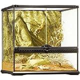 Exoterra Terrarium en Verre pour Reptiles et Amphibiens 45x45x45 cm
