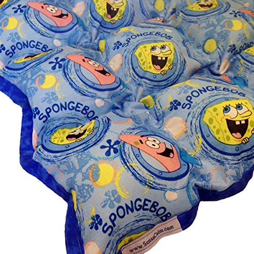 Sensacalm Therapeutic Medium Weighted Blanket With Sponge Bob Portholes Fabric-6 Lb (For 40 Lb Child)
