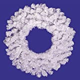 "36"" Crystal White Artificial Christmas Wreath - Unlit"