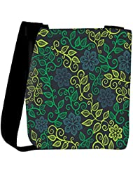 Snoogg A Seamless Leaf Pattern Womens Carry Around Cross Body Tote Handbag Sling Bags