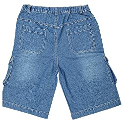 Beebay Boy's Cotton Relaxed Shorts -Denium Blue, (5 Years)