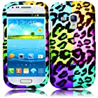 HR Wireless Samsung Galaxy S III mini I8190 Rubberized Design Cover Case - Retail Packaging - Colorful Leopard