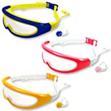 MOTOEYE Kids Swim Goggles Pack of 3,Swimming Glasses for Children and Early Teens,Boys and Girls from 2 to 8Years Old,with Anti-Fog UV Protection Lenses (Color: Blue & Hot Pink & Yellow)
