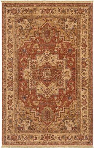 Karastan Antique Legends Serapi Woven Rug, 5`9x9`, Rust Orange