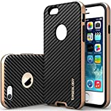 """iPhone 6 Case, Caseology [Bumper Frame] Apple iPhone 6 (4.7"""" inch) Case [Carbon Fiber Black] Slim Fit Skin Cover [Shock Absorbent] TPU Bumper iPhone 6 Case [Made in Korea] (for Apple iPhone 6 Verizon, AT&T Sprint, T-mobile, Unlocked)"""