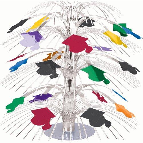 Graduation Cap Mini 8 1/2in Cascade Centerpiece