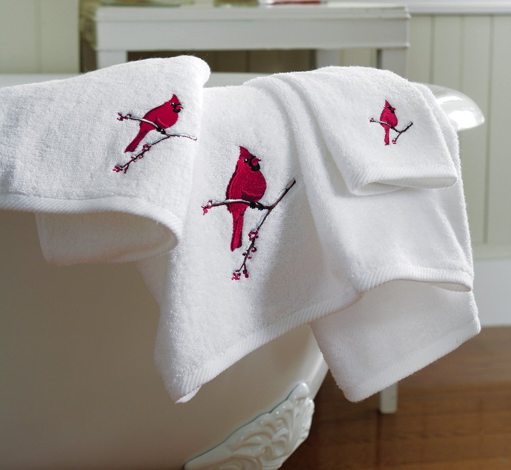 Holiday Cardinal Bird Towel Set