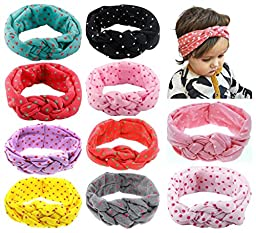 Toptim Baby Headbands Turban Knotted, Girl\'s Hairbands for Newborn,Toddler and Childrens (mix 10 colors)