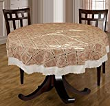 Bianca La-Italia PVC 4 Seater Round Table Cloth - White