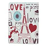 Atdoshop(TM) Eiffel Tower PU Leather Smart Cover Case Stand For iPad Air 5 (E)