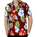 La Leela Hawaiian Shirt For Men Short Sleeve Front-Pocket Printed In Many Colors