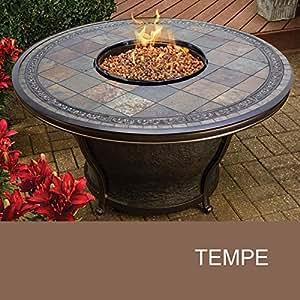 Agio tempe 48 inch round slate top gas fire for Amazon prime fire pit