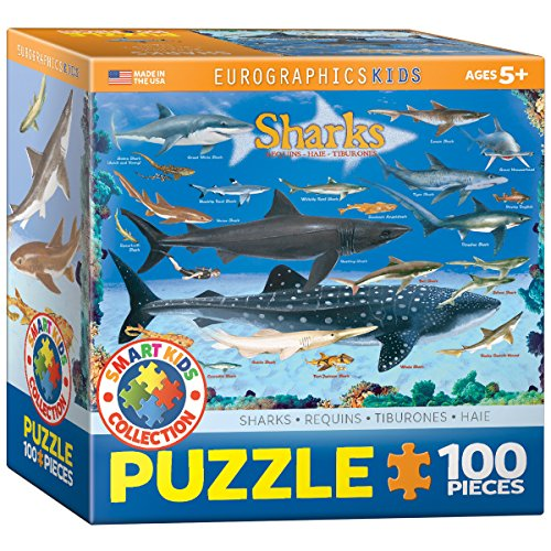 EuroGraphics Sharks Jigsaw Puzzle (100-Piece)