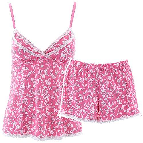 laura-ashley-womens-pink-birds-floral-short-pajama-set-m