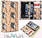 Slim Phone Cover Case With Wallet *Ty-vek* Brown Type Writer May Fit Nok ia X Dual SIM + NuVur ™ k eychain |ESAMTVN2|