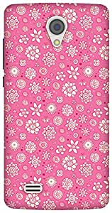 The Racoon Grip Pink Flower Collage hard plastic printed back case/cover for Vivo Y21