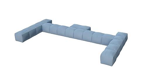 Pigro Felice 921989-aquablue Modul' aria lusso schienale gonfiabile doppio PVC blu cielo 234x 117x 24cm