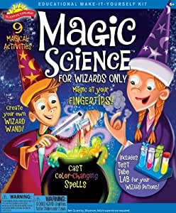 POOF-Slinky 0SA247 Scientific Explorer Magic Science for Wizards Only Kit, 9- Activities by Scientific Explorer TOY (English Manual)