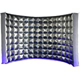 SAYOK Inflatable Photo Booth Wall with Blower (Internal Silver, 119''x59''x91'') Inflatable Photo Booth Backdrop for Event Party Wedding (Color: Silver, Tamaño: 119x59xH91 inches)
