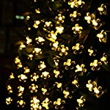 LE Solar Fairy Lights, 7 Meters, Waterproof, 50 LEDs, 1.2 V, Warm White, Portable, with Light Sensor, Outdoor Blossom String Lights, Ideal for Christmas, Wedding, Party