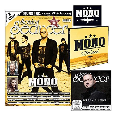 Sonic Seducer 05-2015 mit Mono Inc.-Titelstory + 2 CDs, darunter eine exkl. EP zum Album Terlingua von Mono Inc. + exkl. Sticker von Mono Inc., Bands: Martin Gore, VNV Nation, a-ha u.v.m.