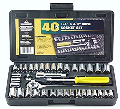 Great Neck PSO40 40 Piece 1/4-Inch and 3/8-Inch Drive Socket Set New Free Shi