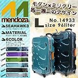 スーツケース va-xyz14933_osaka MENDOZA(メンドーザ)/14933/おしゃれなモダン×ミリタリーデザイン/シーホーク3シリーズ/大容量/96L/Lサイズ/7~10泊/安心のTSAロック/超軽量/旅行用/ハードケース/4輪 Amazon限定 オリジナルモデル No.14933 ネイビー(Navy)