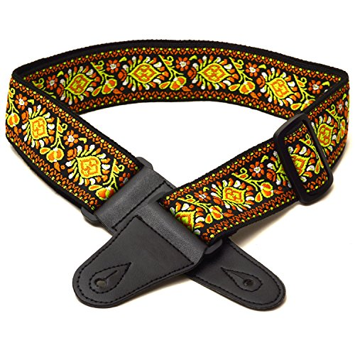 elagon-mef-textured-woven-colourful-flower-fabric-pattern-guitar-strap-for-electric-acoustic-and-bas