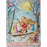 Santa and Family PeA German Advent Calendar with Chocolate Gifts Inside
