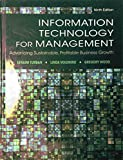 img - for Information Technology for Management: Advancing Sustainable, Profitable Business Growth book / textbook / text book