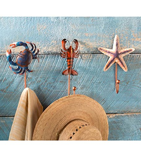Handcrafted Metal Sea Creature Hooks, Set of 3 wind of promise
