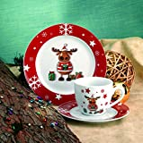 Van Well Kaffeeservice 18-tlg. Weihnachtsdekor Elch
