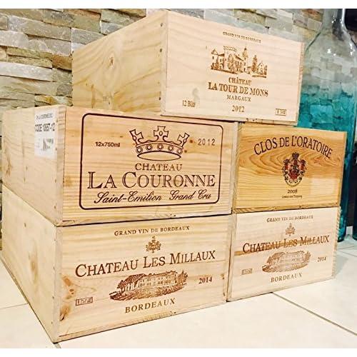 5 French Original Twelve count Bottles Wine Crates