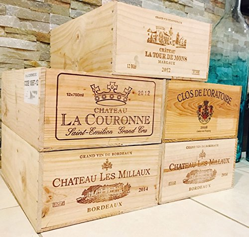 5 French Original Twelve count Bottles Wine Crates 0