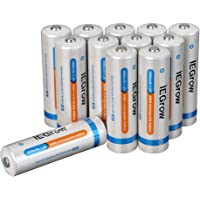 12-Pack iEGrow AA Ni-MH Rechargeable Batteries + iEGrow 8-Bay Battery Charger