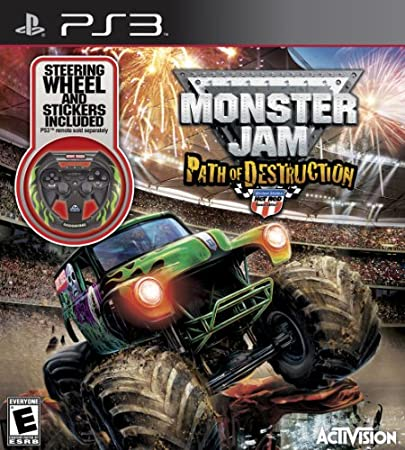 Monster Jam 3: Path of Destruction with Grave Digger Steering Wheel Peripheral