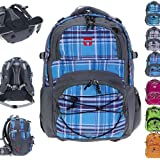 Set: TAKE IT EASY Schulrucksack Rucksack OSLO + Trinkflasche CO2 / Viola Blue