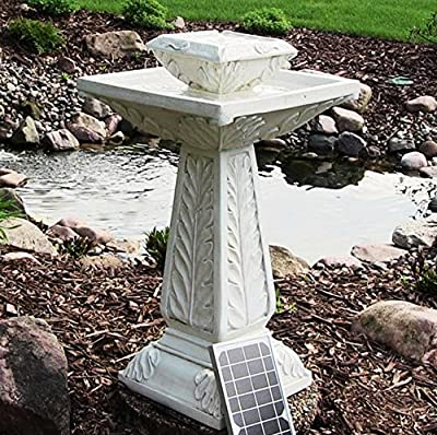 Small Solar Powered Water Feature Outdoor Bird Bath Fountain Victorian Design PC222