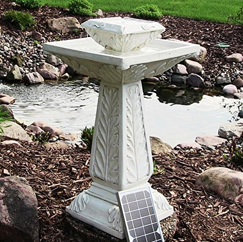 small solar powered water feature outdoor bird bath fountain victorian