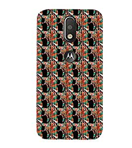 99Sublimation Animated Design Lot of Dog 3D Hard Polycarbonate Back Case Cover for Motorola Moto G4