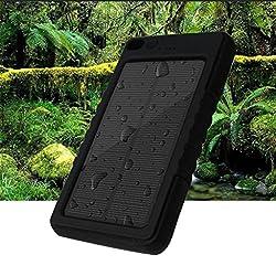 (サンヤンガー)Sunyounger 8000mAh LED電球がに内装付いているので、ハイキングや地震・災害時にも非常用ライトとしても大活躍!携帯式充電器 緊急防災用、多用途な太陽光モバイルバッテリー 充電器 大容量 急速充電 ソーラー充電式ライト   機能搭載 iPhone 6s / 6s Plus / 6 / 6 Plus / 5s / 5c / 5 / iPad / Android / Xperia / Galaxy / 各種スマホ / タブレット / ゲーム機などに対応