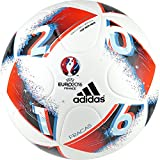 adidas Performance Euro 16 Top Replique Soccer Ball, White/Bright Blue/Solar Red/Silver Metallic, Size 5