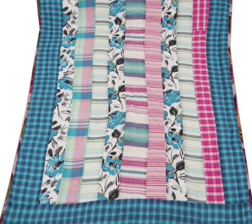 Decorativo multicolor del algodón del bebé del edredón Inicio Dacor tamaño cuna colcha reversible / Gudri India Regalo 50