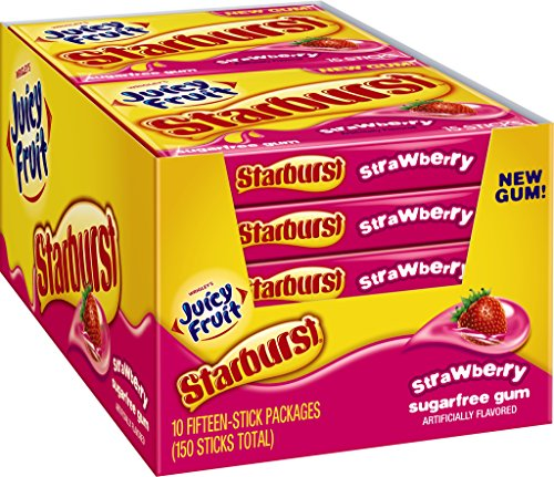 Juicy Fruit Starburst Gum, Strawberry, 1.428 Ounce (Pack of 10) (Juicy Fruit Gum compare prices)