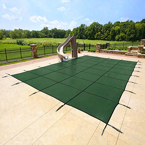 18 39 X36 39 Green Mesh Rectangle Inground Safety Pool Cover 15 Year Warranty 18 Ft X 36 Ft In