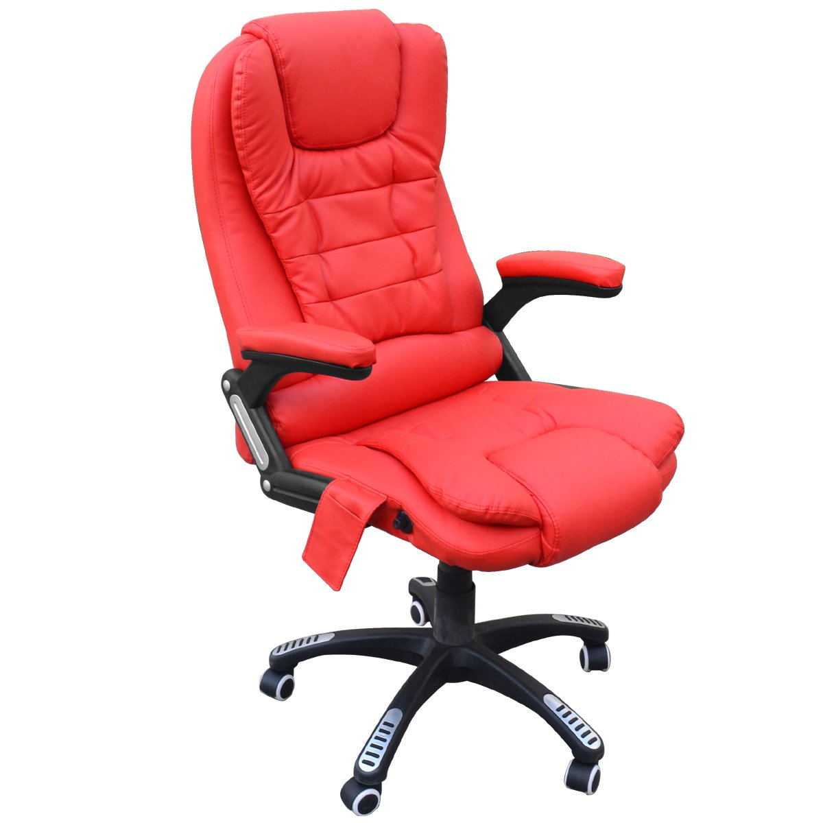 SWT Luxury 6 Point Massage Reclining Designer Office Massage Chair (Red)       Office ProductsCustomer reviews and more information