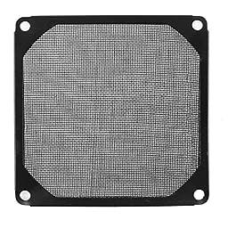 uxcell® 93mm x 93mm PC Dustproof Cooler Fan Case Cover Dust Filter Mesh Black