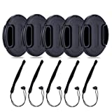86mm Center Snap-on Lens Cap JJC Camera Front Lens Cover for Canon Nikon Fuji Fujifilm Strong Flexible Springs Replaces Original Cap Perfectly Fit Unique Design Camera Lens with Lens Cap Keeper-5 Pack (Color: 5 packs, Tamaño: 86mm)